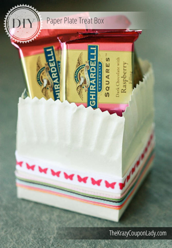 & Charming DIY Paper Plate Treat Boxes - The Krazy Coupon Lady