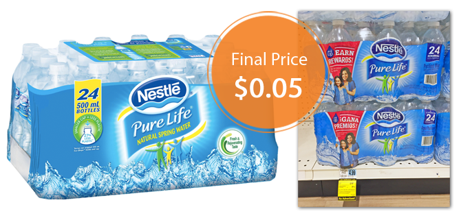 Nestle Pure Life Water, Only $0 05 per Bottle at Rite Aid