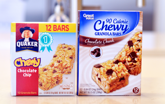 Great Value Granola Bars