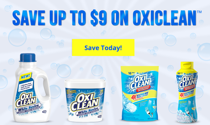 Save 9 00 On Oxiclean With New Coupons The Krazy