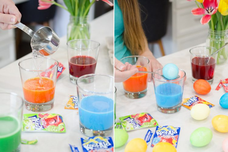 Dye eggs with Kool-Aid.