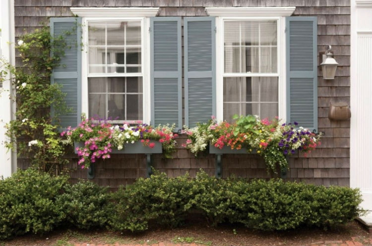 Add window boxes to the front of your house.