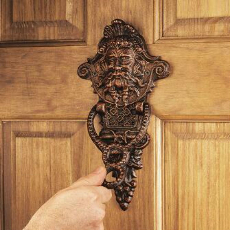 Install an expensive looking door knocker.