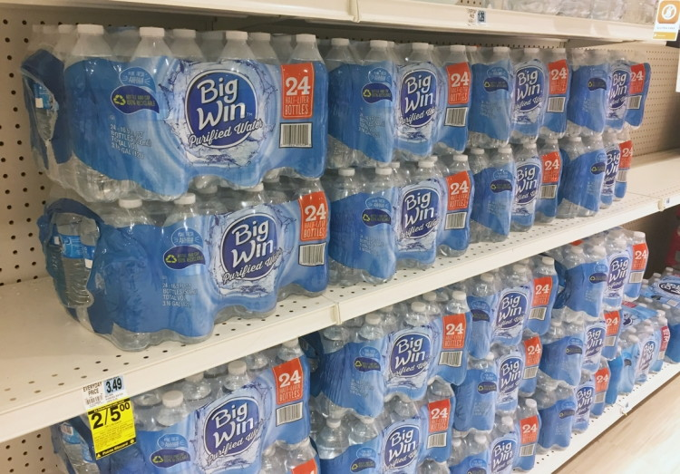 Big Win 24-Count Bottled Water, Only $1 25 at Rite Aid