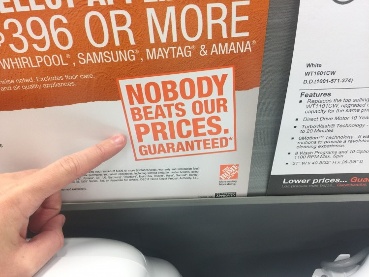 Take Advantage Of The 110 Price Match Policy At Home Depot