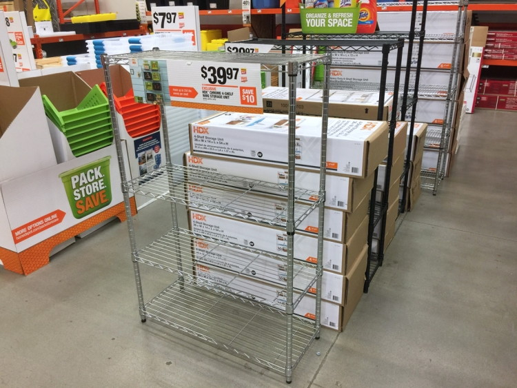 Or Go For The HDX 4 Shelf Storage Unit, Which Holds Up To 350 Pounds Of  Evenly Distributed Weight, Now On Sale For $39.97.