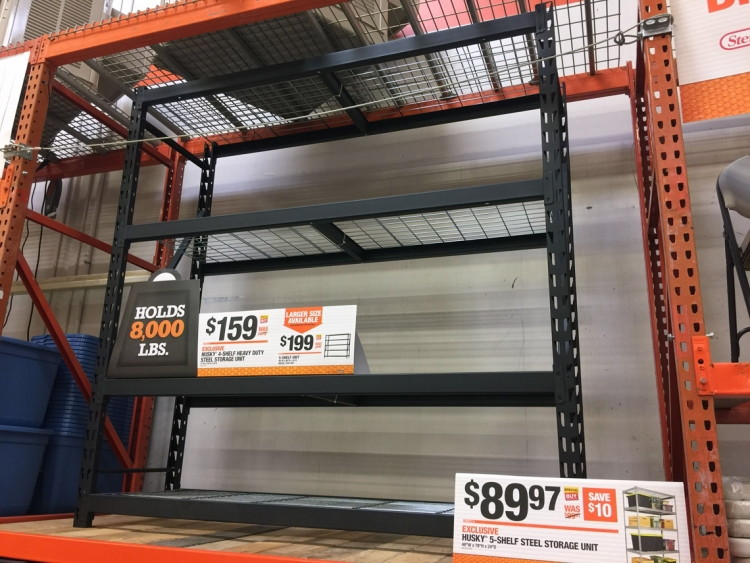 Home Depot Summer Storage Event HDX Husky Shelving Units as