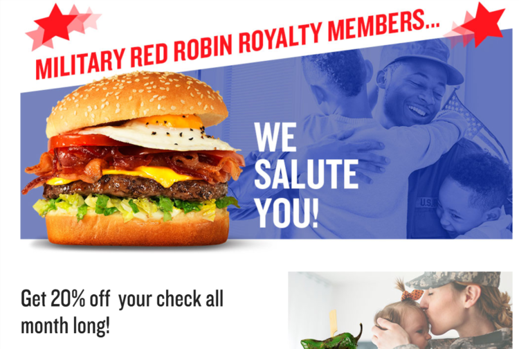 You must have a military ID to get this military discount at participating locations.