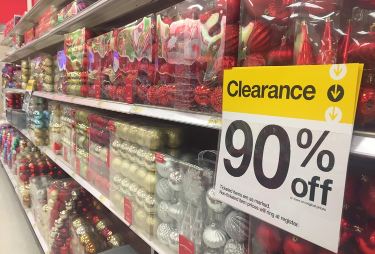 Wrapping paper, decorations and even trees will go on sale up to 90% off in the weeks following Christmas.
