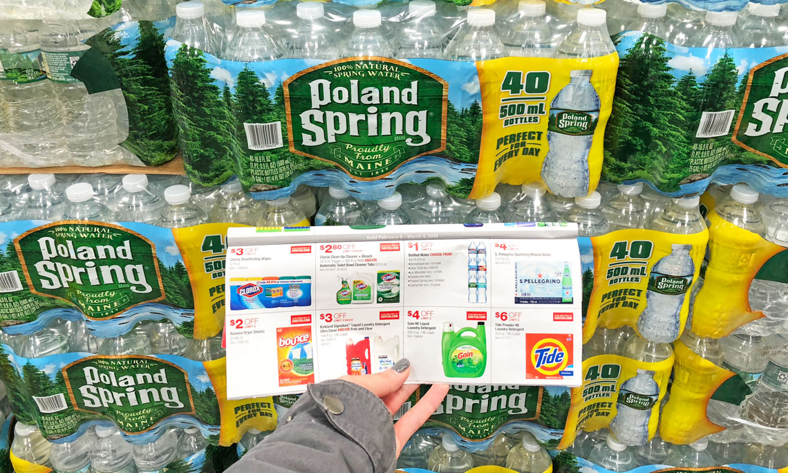 Poland Spring Bottled Water 40-Pack, Only $3 99 at Costco