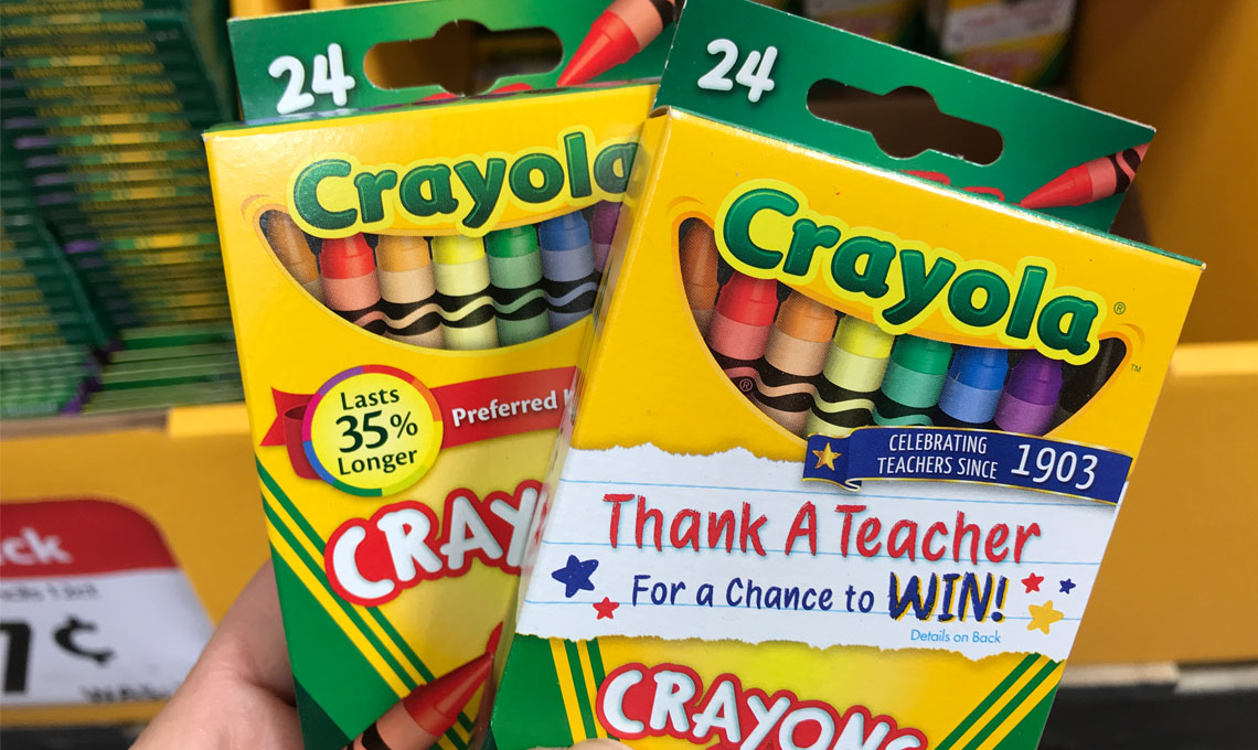 crayola crayons only 0 25 at walmart the krazy coupon lady