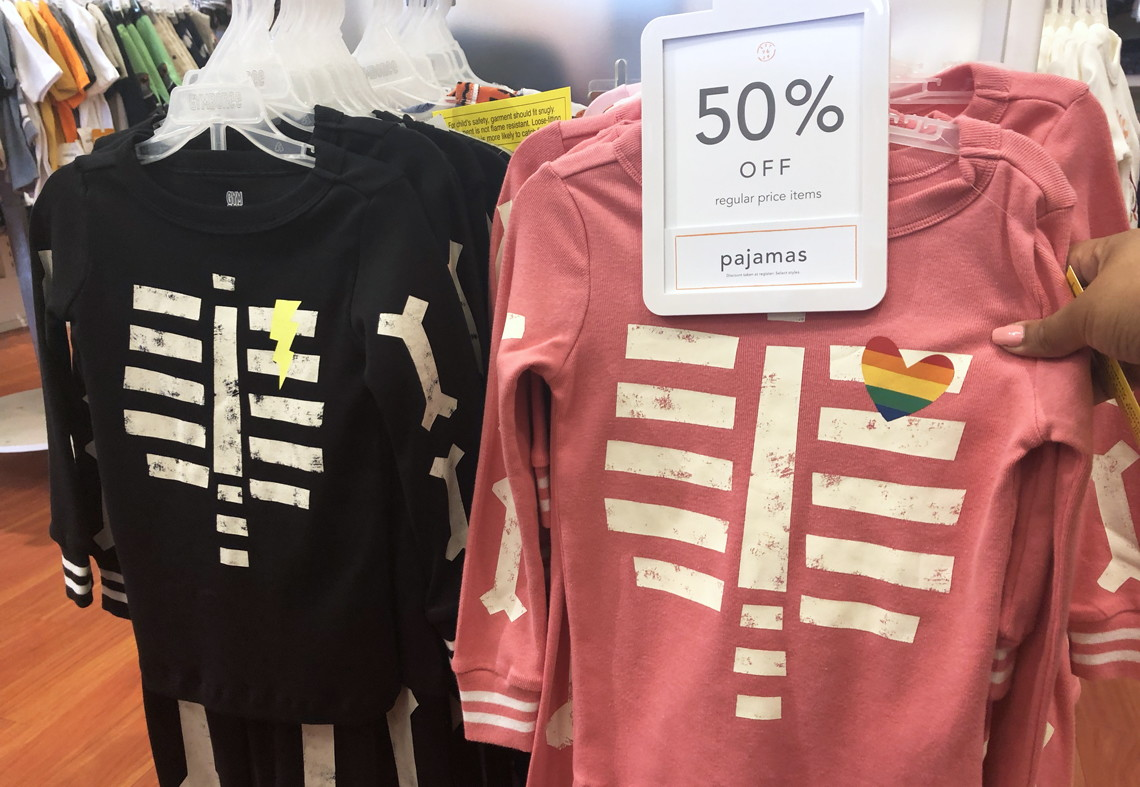 get glow in the dark skeleton pajamas for only 1475 just in time for halloween and a wide selection of kids shoes are also 50 off