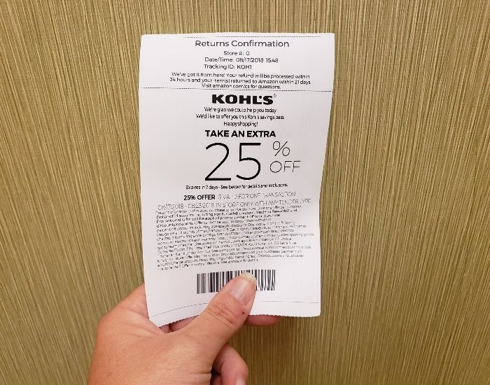 Get a 25% Kohl's coupon when you return an Amazon product.