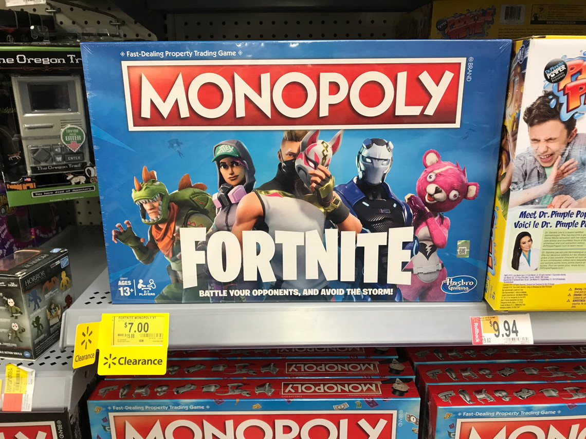 Clearance Monopoly Fortnite & Mario Kart, as Low as $7 at
