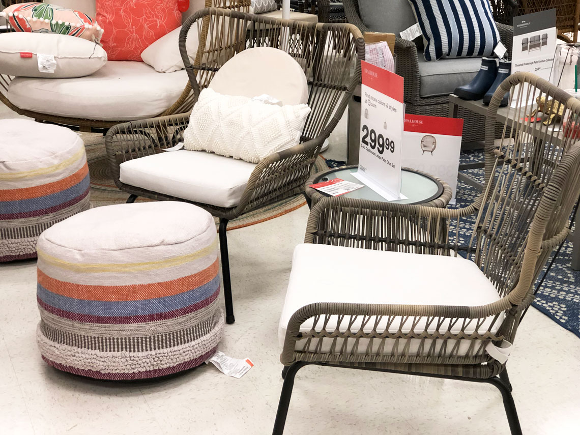 patio chairs, sets and tables, as low as 23.50 at target