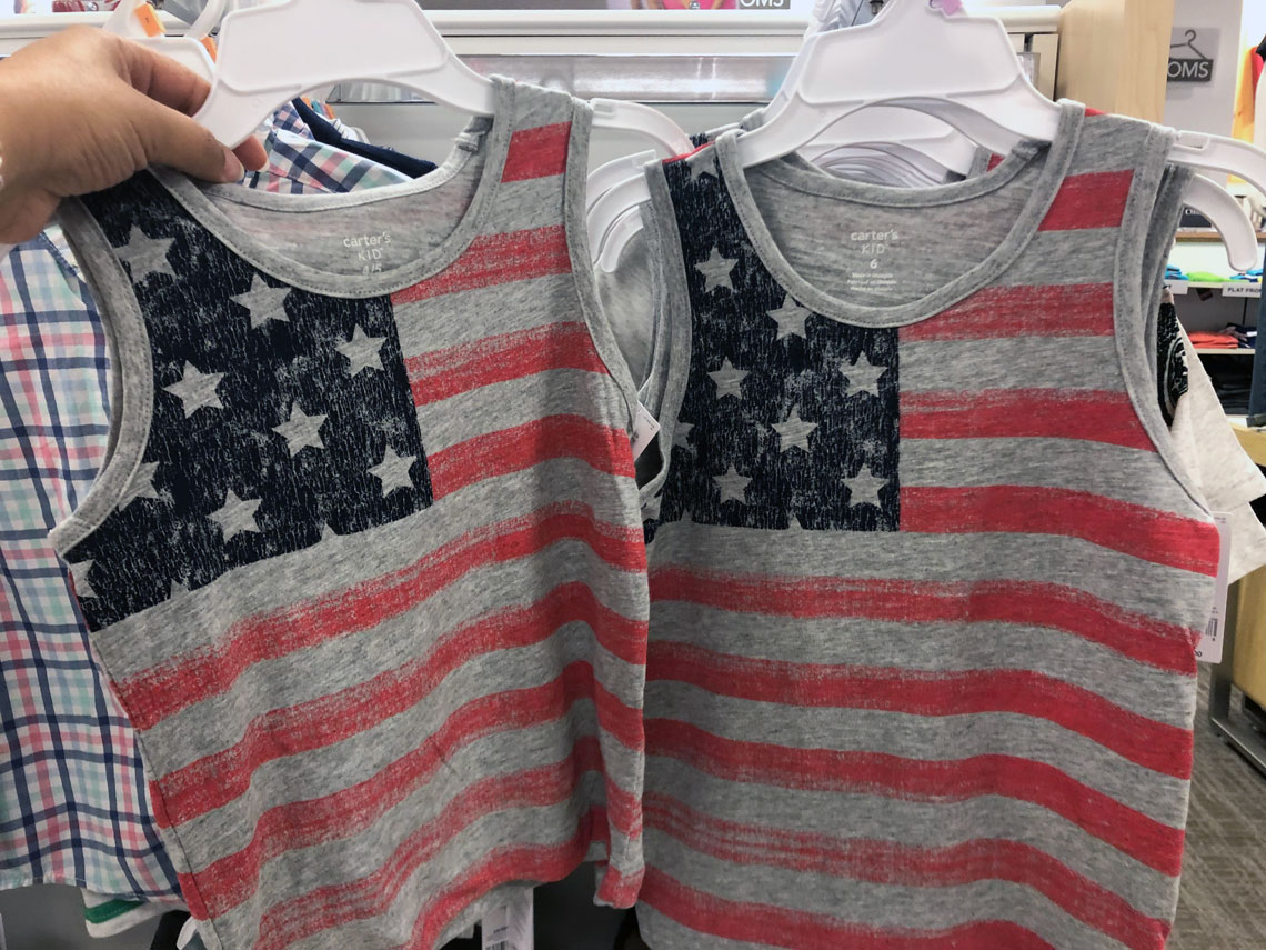 ed08586c110b3 Buy 1 Boys' 4-12 Carter's 4th of July Flag Tank Top ( reg. $16.00 ) $9.60,  sale price through 5/19. Cardholders, use MOM30 for 30% off through 5/19