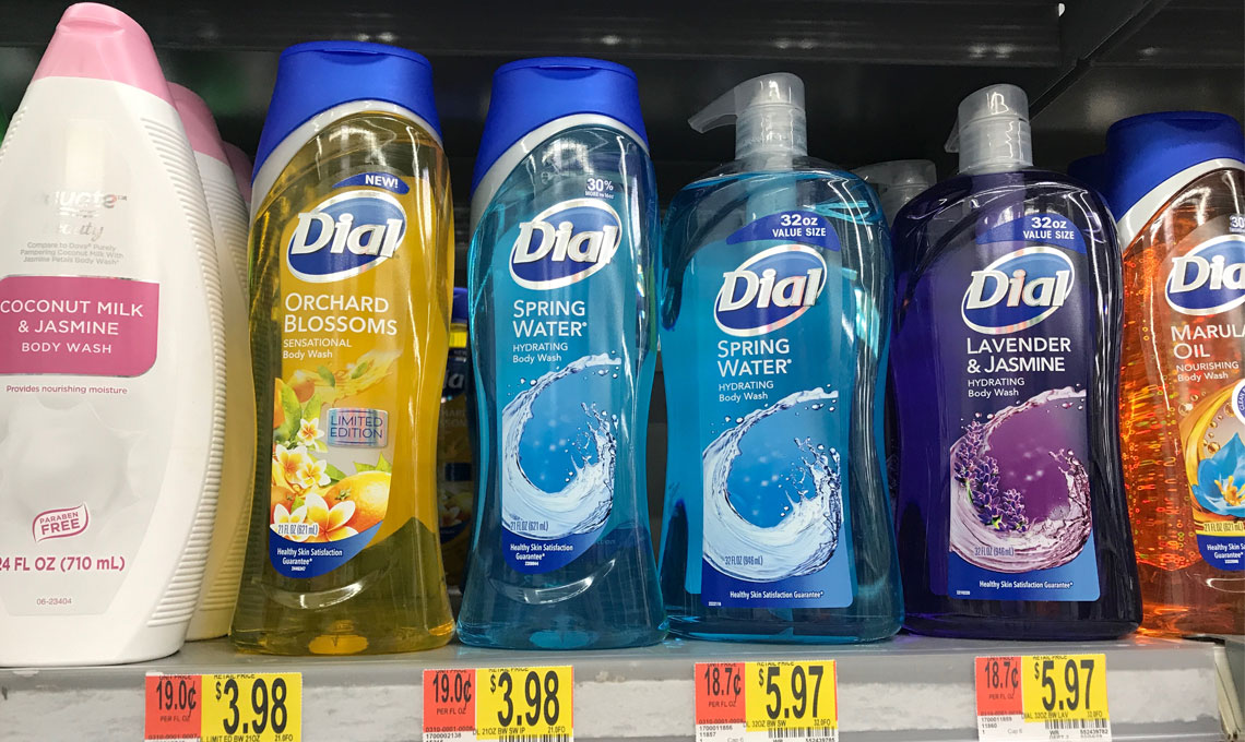 photograph about Dial Printable Coupon called Dial Overall body Clean, Just $1.98 at Walmart Conserve 50%! - The