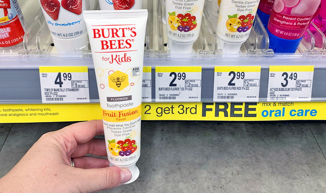 graphic relating to Burt's Bees Coupons Printable named Inventory Up! Burts Bees for Little ones Toothpaste, $0.66 at