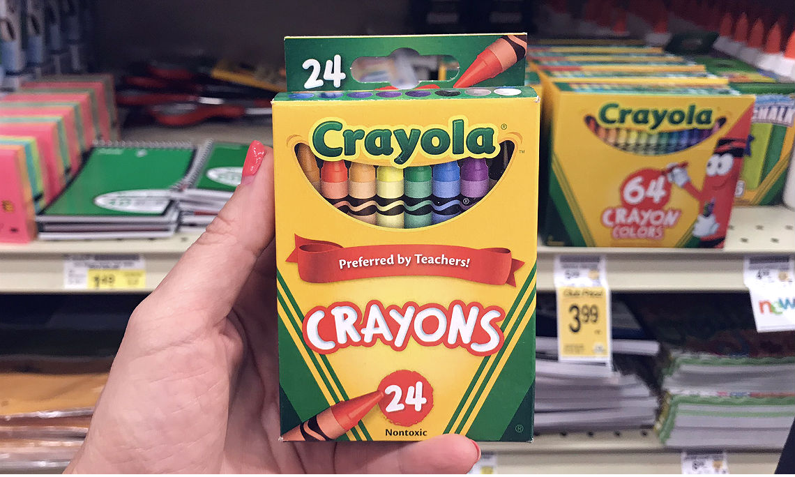 picture relating to Crayola Coupons Printable titled Receive 6 Bins of Crayola Crayons for Underneath $2 at Business Depot
