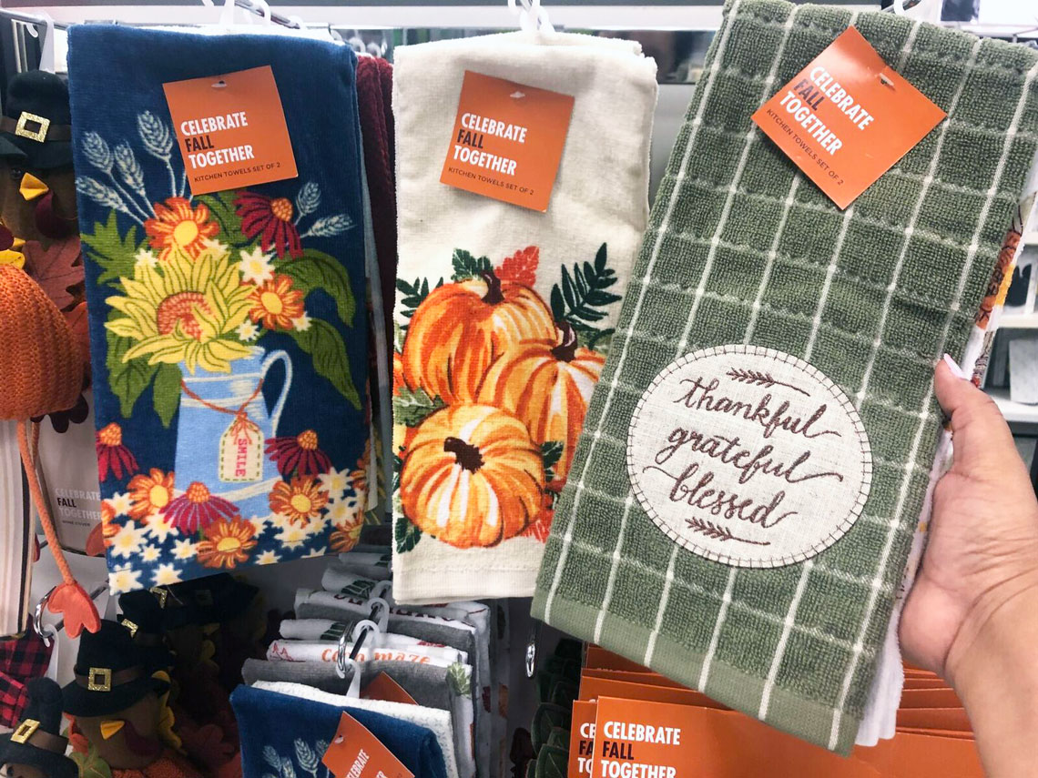 Get Ready For Fall Kitchen Towel 2 Packs As Low As 5 At