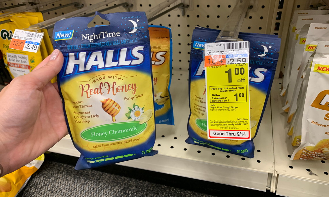 Halls Cough Drops, Only $0 59 at CVS! - The Krazy Coupon Lady