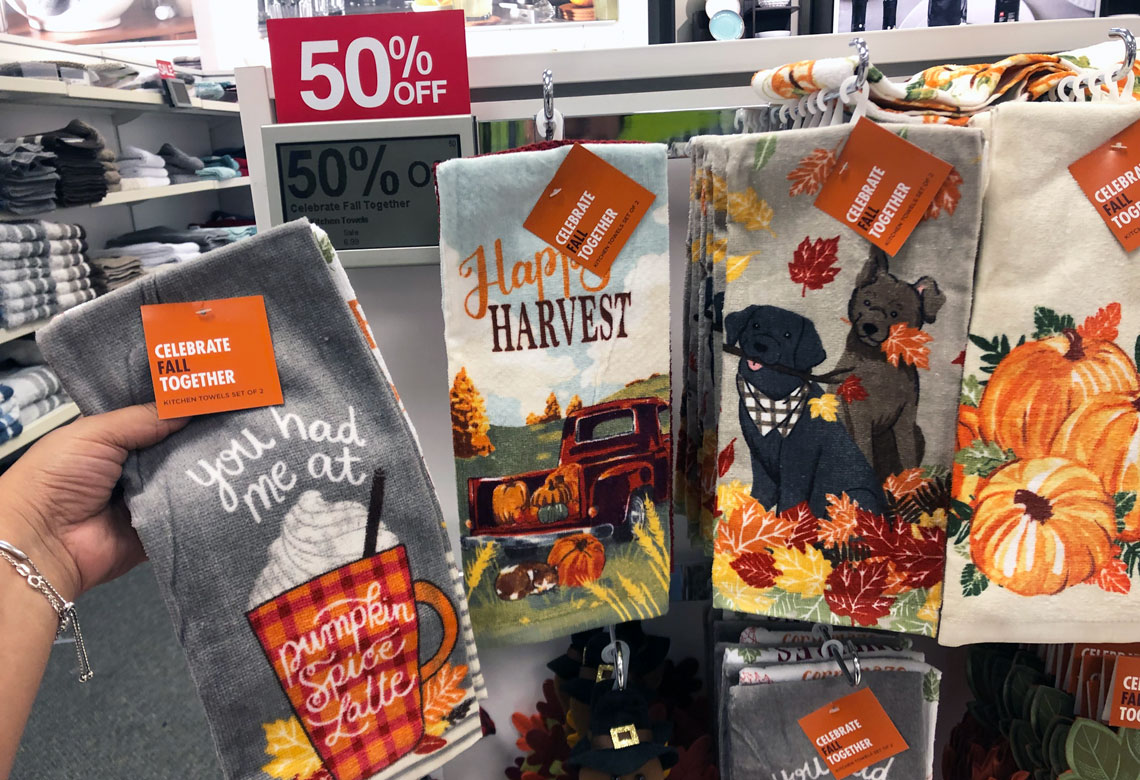 Fall Halloween Kitchen Towel Sets Are 6 At Kohl S The