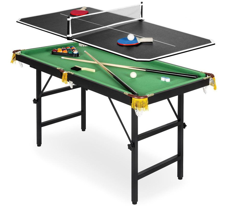 2 In 1 Ping Pong And Pool Table Combo Only 69 99 Shipped